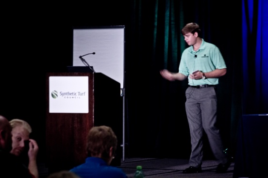 Synthetic Turf International STC Conference Whistle Stop Seminar Presenter Dakota Harp